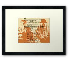 into the mountain Framed Print
