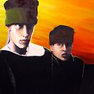 Island Exile Boys (early work) by Tania  Donald