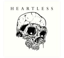 HEARTLESS SKULL Art Print