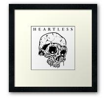 HEARTLESS SKULL Framed Print