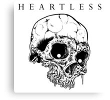 HEARTLESS SKULL Canvas Print
