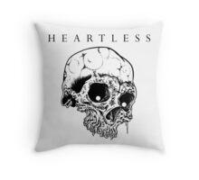 HEARTLESS SKULL Throw Pillow
