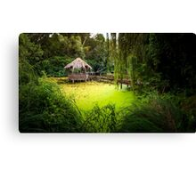 Arbour on the Small Danube Canvas Print