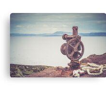 Rusty Cogwheel Canvas Print