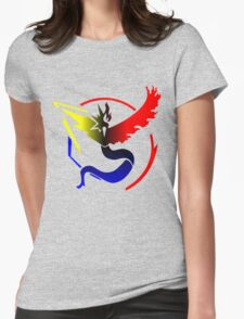 Pokemon Go Teams United [Team Colors] Womens Fitted T-Shirt