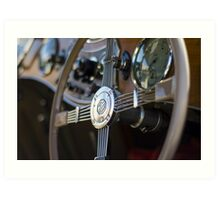 MG Classic Steering Wheel Art Print