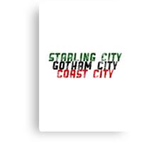DC Comics - Key Cities Canvas Print