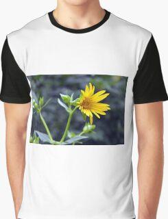 Beautiful sunny yellow flower macro. Graphic T-Shirt