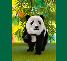 3D Rendering Panda Bear Unisex T-Shirt