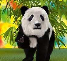 3D Rendering Panda Bear by Vac1