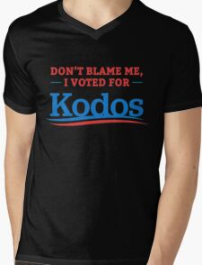 Don't Blame Me I Voted For Kodos Mens V-Neck T-Shirt