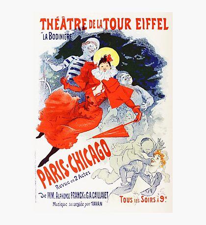 Vintage Jules Cheret 1896 Paris Chicago Revue Photographic Print