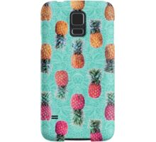 From Pineapple to Pink - tropical doodle pattern on mint Samsung Galaxy Case/Skin