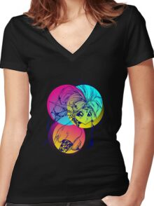 Dragon girl Women's Fitted V-Neck T-Shirt