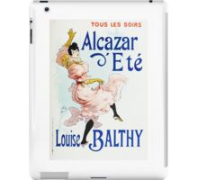 Vintage Jules Cheret 1896 Louise Balthy iPad Case/Skin