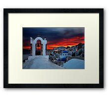 Oia sunset Framed Print