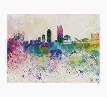 Lyon skyline in watercolor background Kids Tee