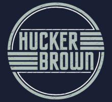 Hucker Brown - retro blue logo One Piece - Short Sleeve