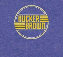 Hucker Brown - retro yellow logo Tri-blend T-Shirt