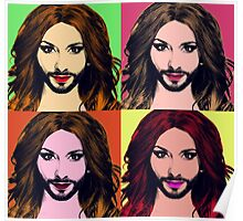 Conchita Wurst - Pop Art Poster