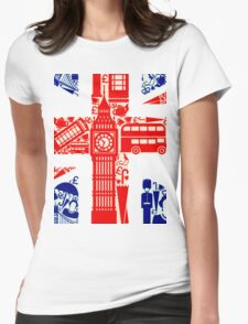 Landmark and Flag 2 Womens Fitted T-Shirt