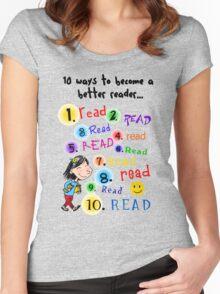Better Reader Women's Fitted Scoop T-Shirt