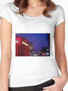 Wet London Phone Box Women's Fitted Scoop T-Shirt