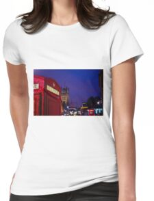 Wet London Phone Box Womens Fitted T-Shirt