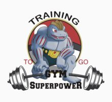 Machoke Training Super Gym - Pokemon Training Baby Tee