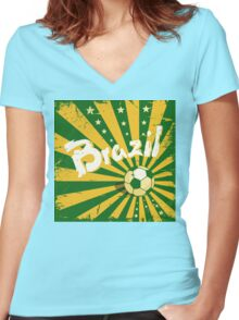 Ola Brazil Women's Fitted V-Neck T-Shirt