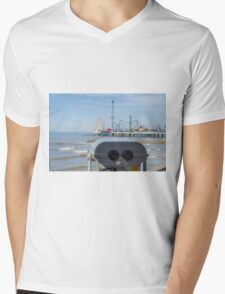 Overlooking the beach Mens V-Neck T-Shirt
