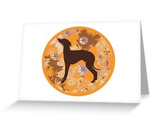 Whippet Dog Tee Greeting Card