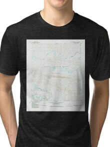 USGS TOPO Map Alaska AK Lookout Ridge A-4 357169 1984 63360 Tri-blend T-Shirt