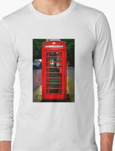 Phone Box Cover red Long Sleeve T-Shirt