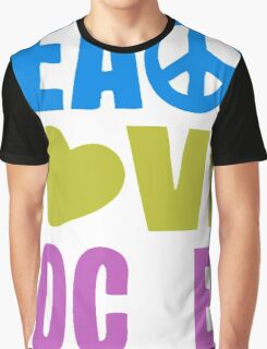 Peace Love Soccer Graphic T-Shirt