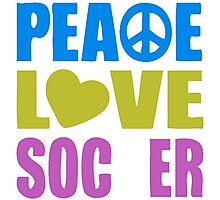 Peace Love Soccer 578 Photographic Print