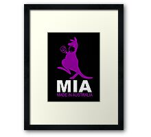 MIA - Made in Australia BLACK SMALL Framed Print