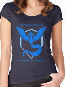 Team Mystic - Winter Is Coming Women's Fitted Scoop T-Shirt