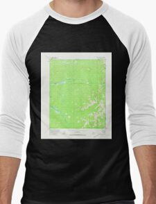 USGS TOPO Map Alaska AK Black River A-1 354612 1956 63360 Men's Baseball ¾ T-Shirt