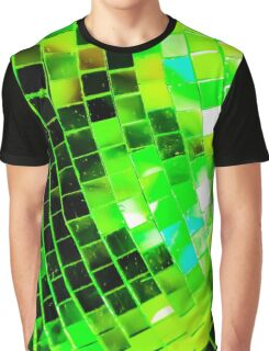 Funky Green Disco Ball Graphic T-Shirt