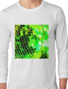 Funky Green Disco Ball Long Sleeve T-Shirt