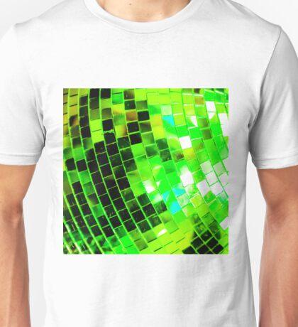Funky Green Disco Ball Unisex T-Shirt