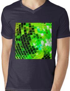 Funky Green Disco Ball Mens V-Neck T-Shirt