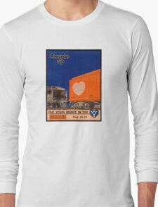 Couple Up Vintage Railroad Poster Long Sleeve T-Shirt