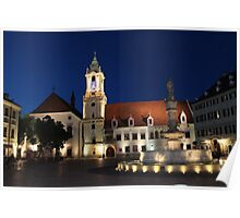 Old Town Hall by Night, Bratislava: Slovakia Poster