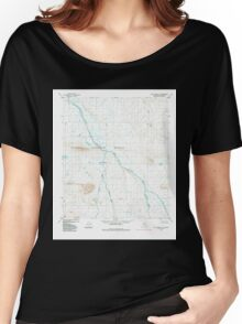 USGS TOPO Map Alaska AK Killik River C-5 356767 1984 63360 Women's Relaxed Fit T-Shirt
