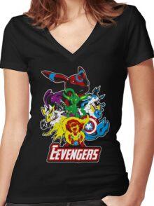 Eevengers Women's Fitted V-Neck T-Shirt