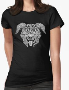 Mr. Pickles Illustration Womens Fitted T-Shirt