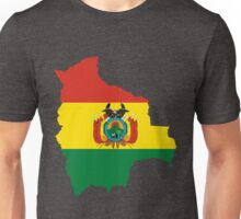 Bolivia Flag Map Unisex T-Shirt