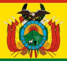 Bolivia Flag Map Sticker